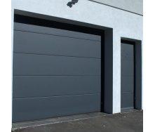 Ворота гаражні секційні Ryterna TLB slick дошка RAL 7016