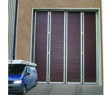 Складні ворота Ryterna RIB 4000x7000 мм RAL 8017