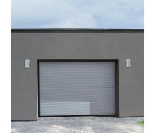 Ворота гаражні секційні Ryterna TLB stucco макросмуга RAL 9007