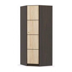 Угловой шкаф Мебель-Сервис Фантазия 875х2160х875 мм венге темный/дуб самоа