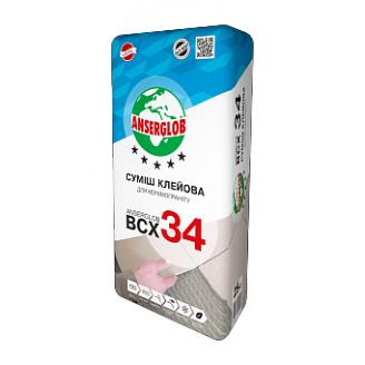 Клей Anserglob ВСХ 34 для керамогранита 25 кг
