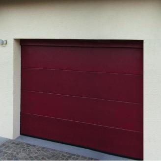 Ворота гаражні секційні Ryterna TLB slick дошка RAL 3011