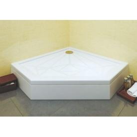 Душовий піддон Прем'єр для душової кабіни з литого каменю мармуру 900х900 мм