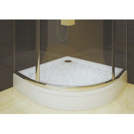 Душевой поддон из литого камня мрамора Snail Жасмин 1000х1000 мм R 550 мм