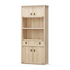 Шкаф книжный Мебель-Сервис Валенсия 4Д1Ш 2086х910х445 мм самоа