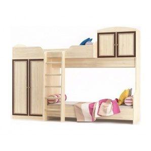 Кровать-горка Мебель-Сервис Дисней 2942х1062х2180 мм дуб светлый