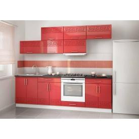 Кухня глянець червоного кольору фасад мдф на замовлення