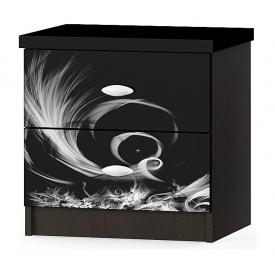 Тумба прикроватная Мебель-Сервис Ева 379х506х516 мм венге темный
