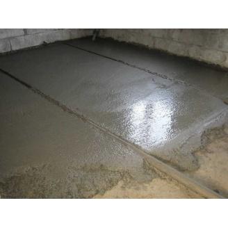 Устройство пола по маякам 150 мм с принятием бетона товарного В25
