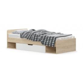 Кровать Мебель-Сервис Типс 600х2032х956 мм дуб самоа/белый матовый