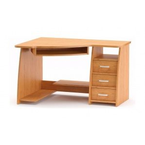 Письменный стол Мебель-Сервис Эрудит 738х880х1234 мм ольха