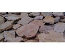 Рваный камень песчаник красный