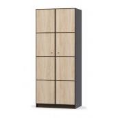 Шкаф Мебель-Сервис Фантазия 2Д 900х2160х561 мм венге темный/дуб самоа