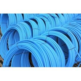 Труба полиэтиленовая первичное сырье 8 атмосфер 32х2 мм синяя