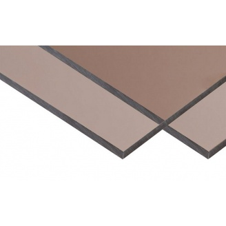 Монолитный поликарбонат BORREX 2 мм 2,05x3,05 м бронза