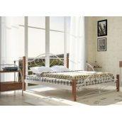 Металлическая кровать Металл-Дизайн Джаконда на деревянных ножках 1900х1400 мм