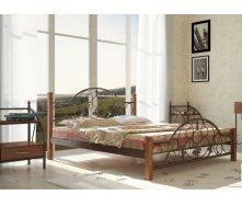 Металлическая кровать Металл-Дизайн Жозефина на деревянных ножках 1900х1400 мм