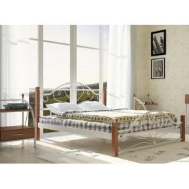 Металеве ліжко Метал-Дизайн Джаконда на дерев'яних ніжках 1900х1400 мм