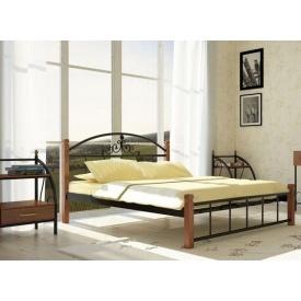 Металлическая кровать Металл-Дизайн Кассандра на деревянных ножках 1900х1400 мм