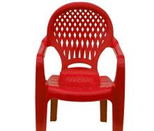 Детское кресло пластиковое Ромб 360x365x565 мм красное