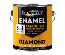 Эмаль антикоррозионная Kompozit DIAMOND 3в1 0,65 л графит