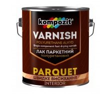 Лак паркетный полиуретановый Kompozit шелковисто-матовый 0,7 л