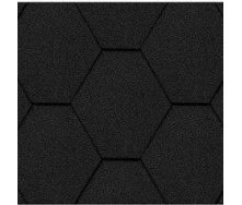 Битумная черепица Kerabit K Тройка однотонная черная