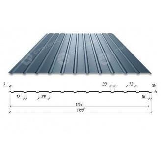 Профнастил Сталекс С-12 1190/1155 мм 0,4 мм PE Китай (RAL7024/серый графит)