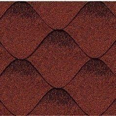 Битумная черепица Kerabit S Волна красно-черная