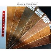 Обои XSTONE из минеральных компонентов 1х3 м имитация ржавой стали кортен