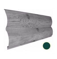 Металлический сайдинг Suntile Блок-Хаус Бревно матовый 361/335 мм зеленый мох