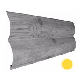 Металевий сайдинг Suntile Блок-Хаус Колода матовий 361/335 мм жовтий цинк