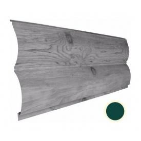 Металевий сайдинг Suntile Блок-Хаус Колода матовий 361/335 мм зелений мох