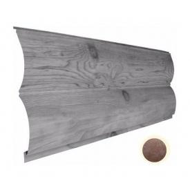 Металлический сайдинг Suntile Блок-Хаус Бревно глянец 361/335 мм бронза ОК 23