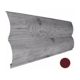 Металевий сайдинг Suntile Блок-Хаус Колода матовий 361/335 мм червоне вино