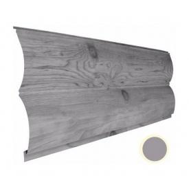 Металевий сайдинг Suntile Блок-Хаус Колода матовий 361/335 мм сірий