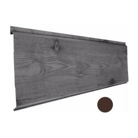 Металевий сайдинг Suntile Дошка матовий 277/254 мм коричневий шоколад