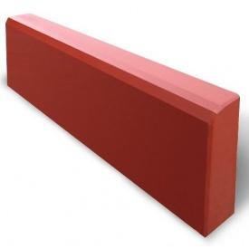 Бордюр тротуарний 500х200х60 мм червоний