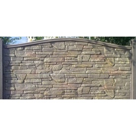 Плита Киев-Забор Карпатський камінь дуга одностороння 2х0,5 м