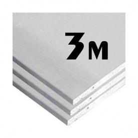 Гіпсокартон стіновий 12,5 мм 1200x3000 мм