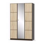 Шкаф Мебель-Сервис Фантазия 3Д 1348х2160х562 мм венге темный/дуб самоа