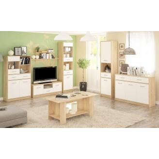 Гостиная Мебель-Сервис Типс дуб самоа/белый матовый