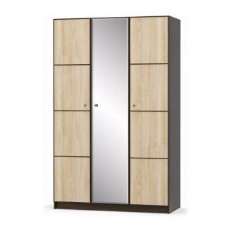 Шкаф Мебель-Сервис Фантазия 1348х2160х562 мм венге темный/дуб самоа трех-дверный