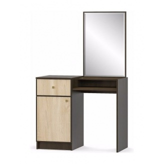 Туалетный столик Мебель-Сервис Фантазия 1471х900х436 мм венге темный/дуб самоа