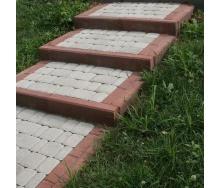 Тротуарная плитка Золотой Мандарин Старый город 120х60 мм на белом цементе белый