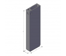 Вентиляционный блок ВБ 4-33-2 ТМ «Бетон от Ковальской» 910х400х3280 мм