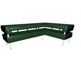 Комплект дивана Тонус Sentenzo 2200х1600х700 мм зеленый с подлокотниками