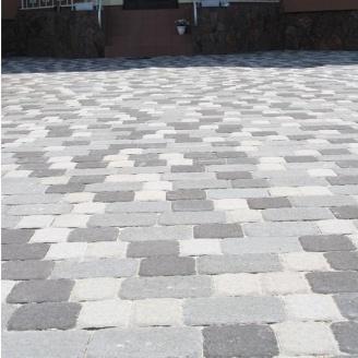 Тротуарная плитка Золотой Мандарин Старая площадь 160х40 мм на белом цементе белый