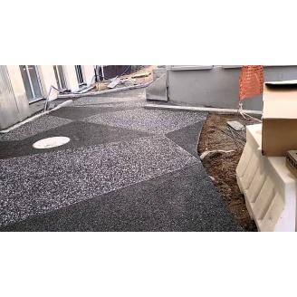 Устройство вымывного бетонного пола 25 мм