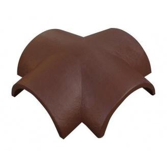 Соединитель четырех ребер ONDO MARRÓN 385х385 мм коричневый